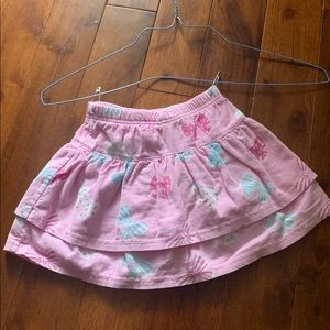 Like new Le Top pink bow skirt